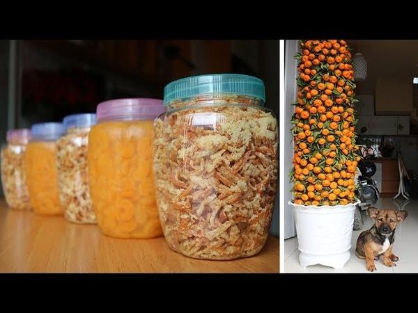 Mứt vỏ quýt kẹo khóm bánh in chuối ngào bánh tét củ kiệu… thức ăn vặt cho tết