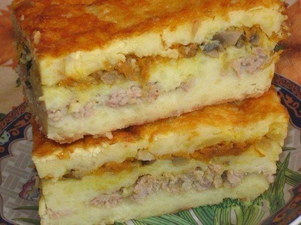 7 рецептов картофельных запеканок  1. Картофельная запеканка с сосисками...
