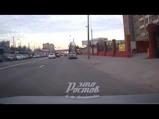 На ул.Менжинского девушка на Матизе спровоцировала ДТП -  - Это Ростов-на-Дону!