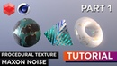 Create Procedural Textures in Redshift w. Maxon Noise - Tutorial - Part 1