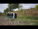 James Corden goes for a ride in OLLI Autonomous Shuttle by Local Motors