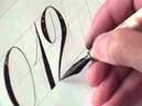 Hamid Ezra Ebrahimi: How To Write Copperplate - Numbers 0,1,2,3,4
