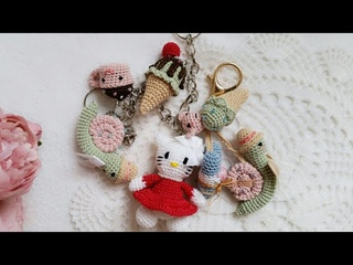 Kawaii charms crochet tutorial / kawaii kitty 🐱 and little Donut 🍩