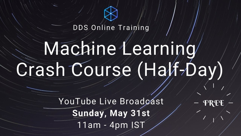 DDS Online Training Machine Learning Crash Course