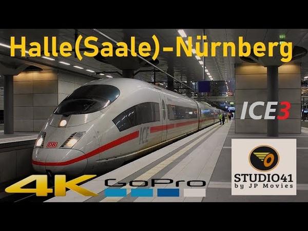 Führerstandsmitfahrt Halle Saale Nürnberg *ICE1005* ICE3 II BR403