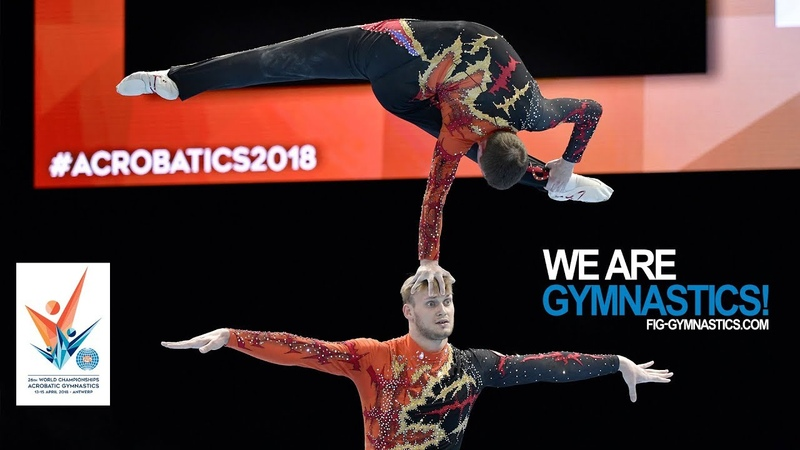 2018 Acrobatic Worlds Antwerp BEL Highlights MEN'S and WOMEN'S PAIR FINALS We Are Gymnastics
