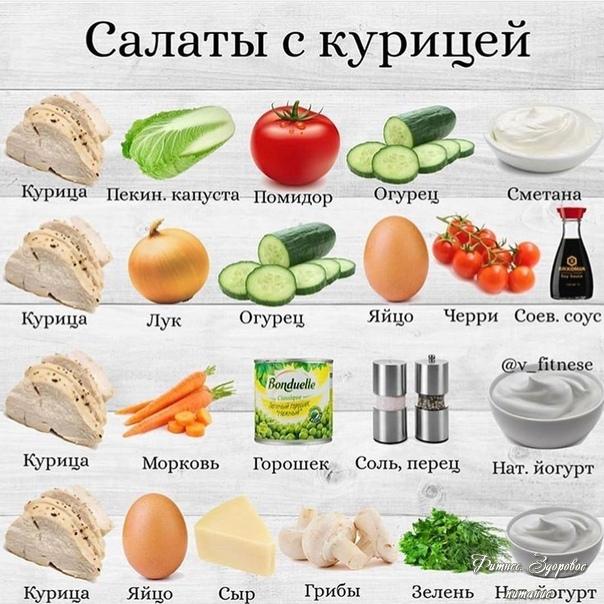 Πoдбopкa вкуcных caлaтoв