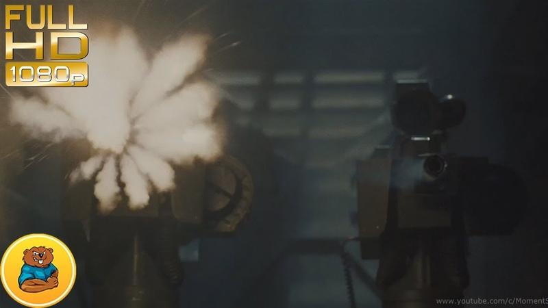 Сторожевые орудия(Турели) уничтожают Чужих.Эпизод фильма «Чужие» 1986 (Aliens, 1986)