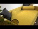 Мягкая кровать-тахта с ортоп. основанием Аланд (Sontelle)