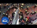 Dutch Police baton-wields English fans causing troubles in Amsterdam - Daily Mail