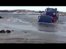 КАМАЗ - машина зверь! Серийный КАМАЗ преодолевает реку в брод.