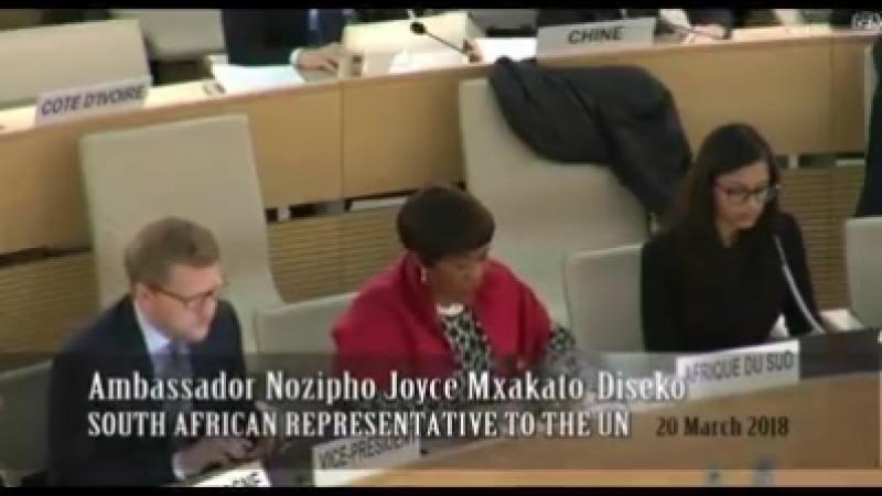 VIDÉO: L'Afrique du Sud condamne (encore une fois de plus ) l'entité sionique sur ses pratiques d '