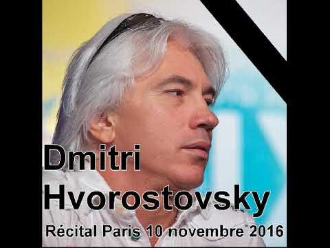 Dmitri Hvorostovsky the last recital in Paris 10/11/2016 (audio direct)