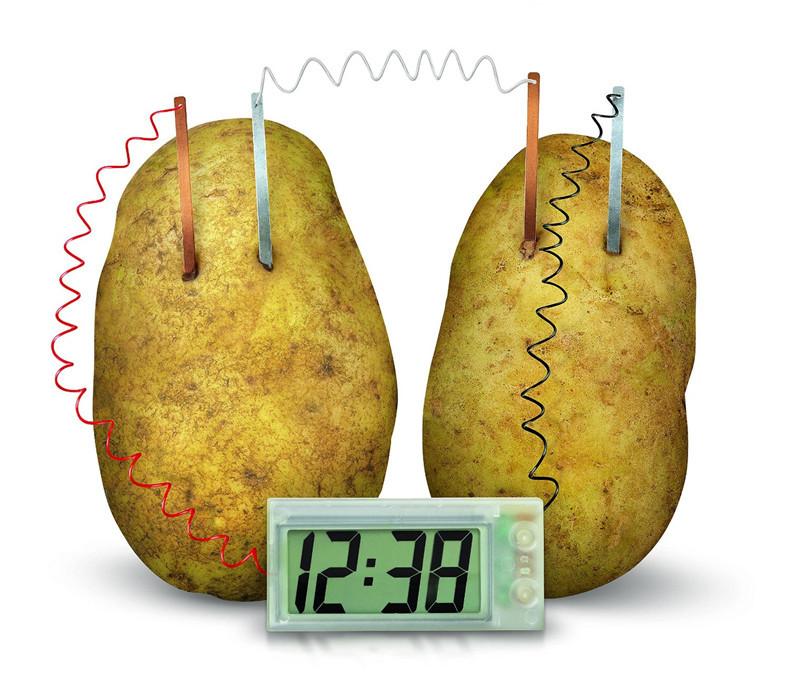 Часы работающие от картошки