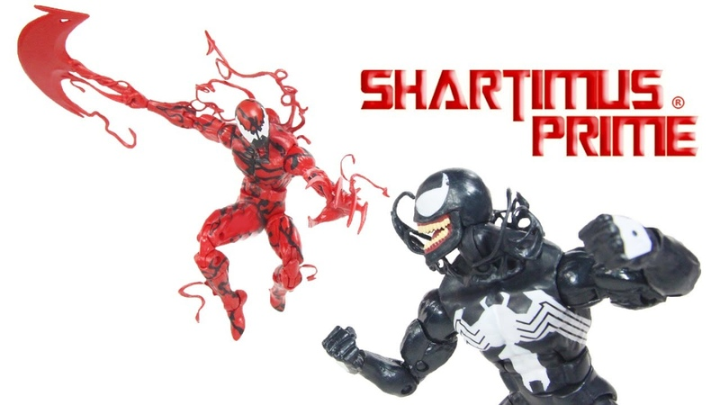 Marvel Legends Venom and Carnage Monster Venom BAF Wave Marvel Hasbro Action Figure Toy Review