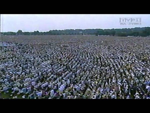VIII Pielgrzymka Papieża Jana Pawła II do Polski Msza Św na Błoniach Krakowskich 2002