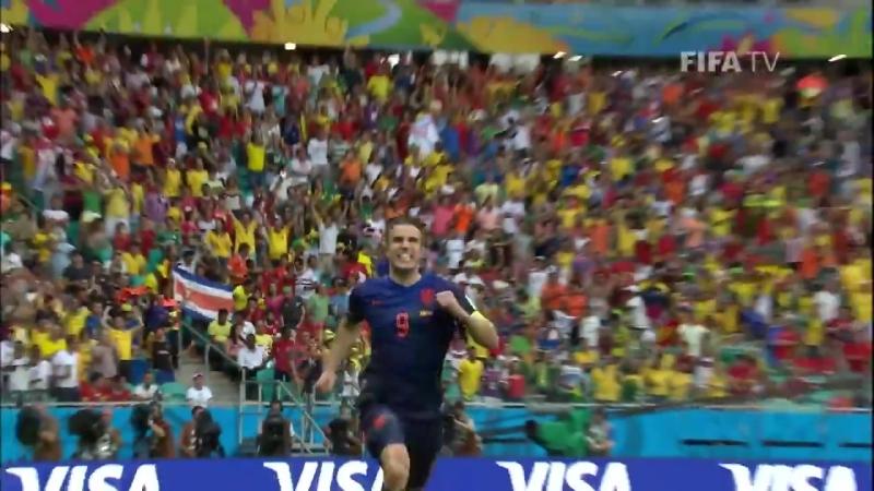 Шикарный гол ван Перси в матче Голландия - Испания