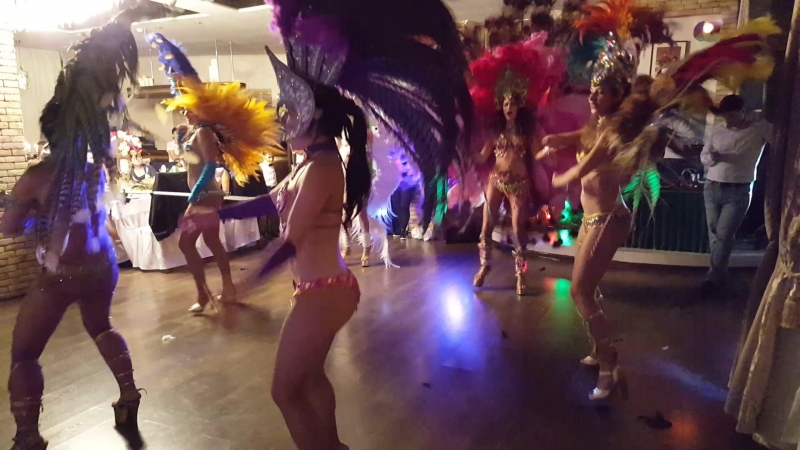 Выступление нашего бразильского шоу в ресторане Баязет