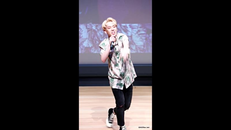 FANCAM | 16.06.18 | Byeongkwan (DESSERT) @ 3d fansign Sangam S-Flex