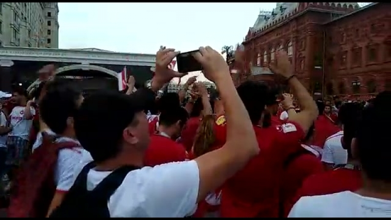 на красной площади в Москве ЧМ