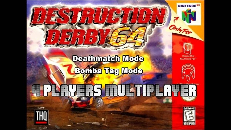 Destruction Derby 64 Multiplayer 4 Players Deathmatch Mode Bomba Tag Mode