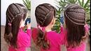 Penteado Infantil fácil de ligas para cabelo solto ou com amarração