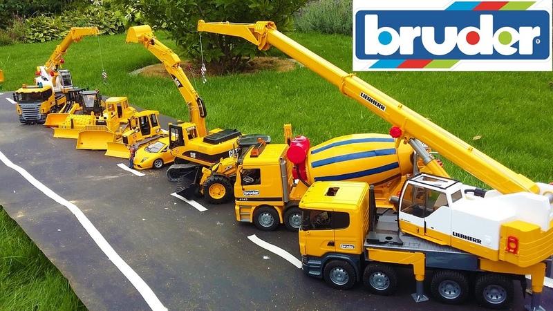 BRUDER TOYS BEST OF 2016 - trucks, tractors, excavators for kids!