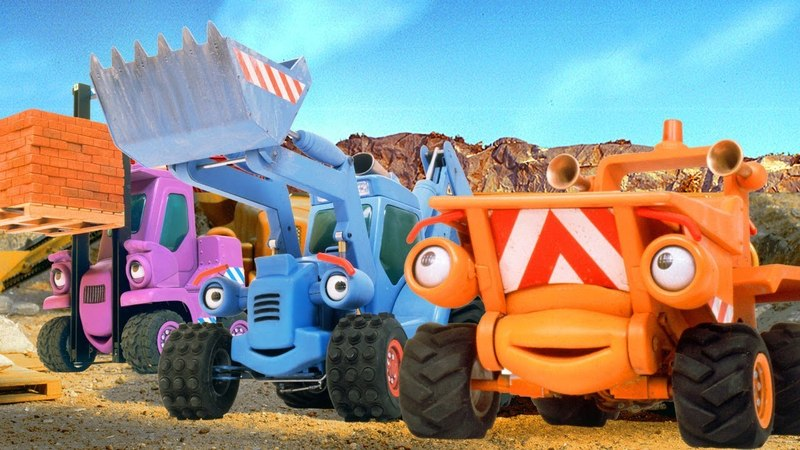 Мультики про рабочие машинки и Синий Трактор на Стройке