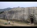 Пещеры Индии Барабар и Китая древние бомбоубежища