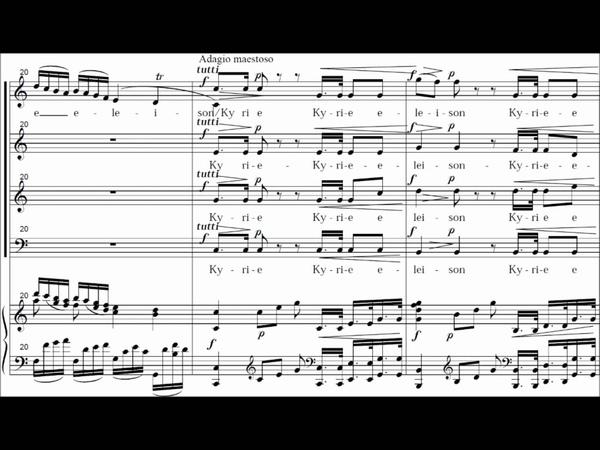 Kyrie - (Coronation Mass) Missa Brevis in C Major - KV 317 - Mozart