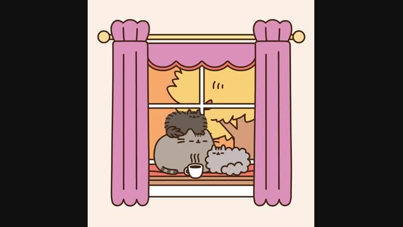 HYGGE - Pusheen - Fall Window