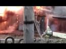 Возгорание гаражей из-за проводки. На против дома Ивана Булкина 38 1