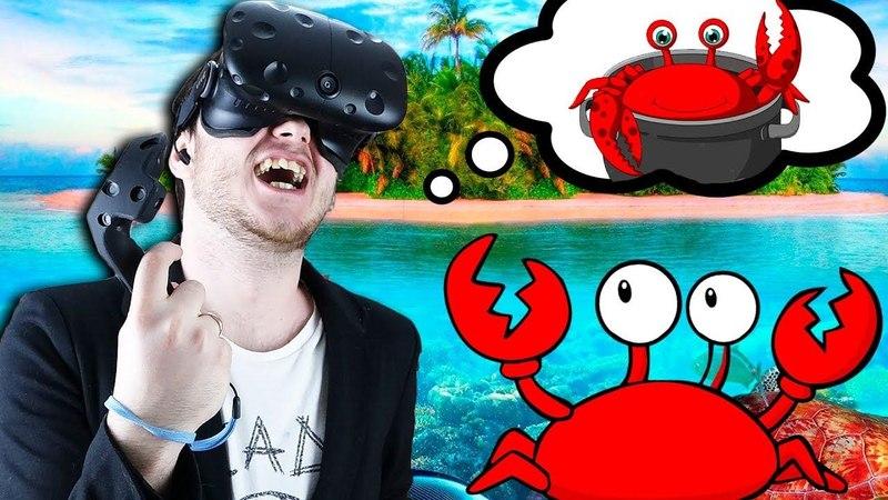 ОБЕЗУМЕЛ ОТ ГОЛОДА В ВР! - Lost In Ocean VR - HTC Vive