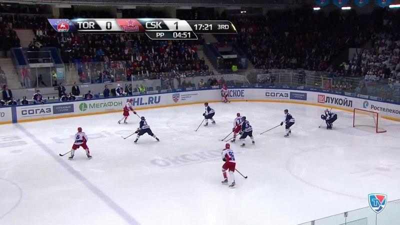Моменты из матчей КХЛ сезона 14/15 • Гол. 0:2. Ожиганов Игорь (ЦСКА) увеличивает преимущество в счете в большинстве 11.12