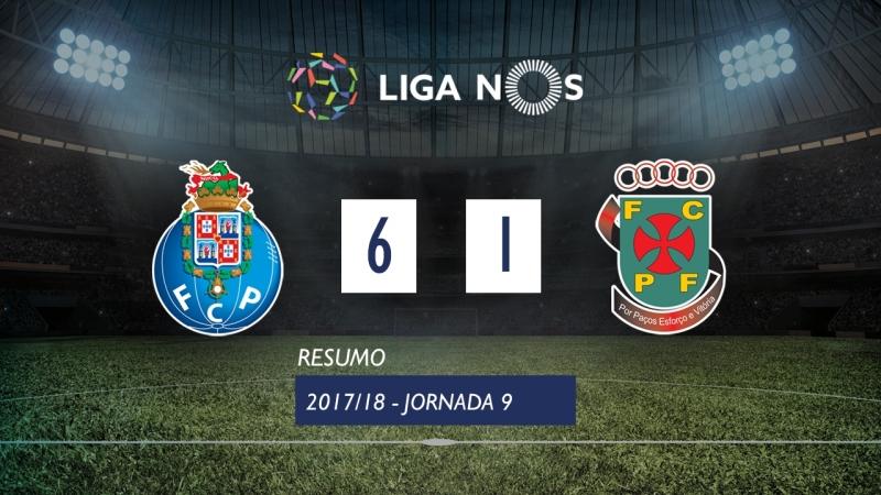 Лига НОШ 2017/18 (Тур 9): Порту – Пасуш-де-Феррейра 6:1