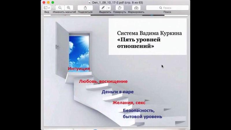 Вебинар день 1 Секреты счастливых отношений от Вадима Куркина 04.12.2010