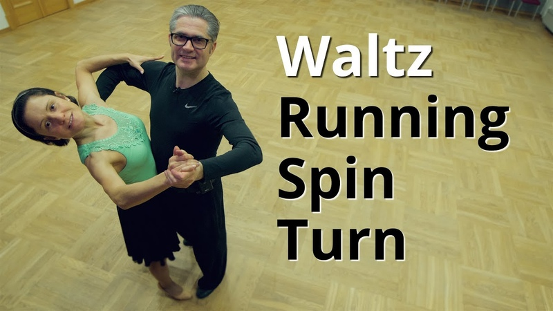 Waltz Basic Routine with Running Spin Turn Dance Lesson