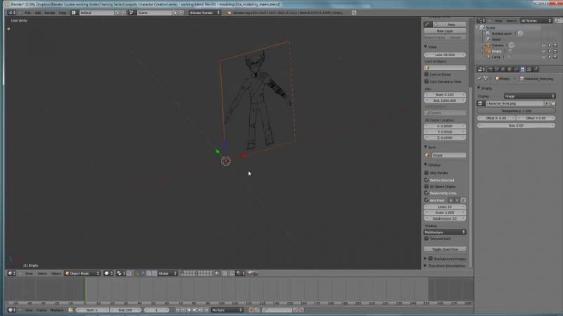 01 1 Setting up Modeling Sheets Blender3D