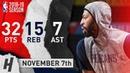 Anthony Davis Full Highlights Pelicans vs Bulls 2018.11.07 - 32 Pts, 15 Reb, 7 Ast, 4 Blocks