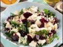 Салат со свеклой рукколой и сыром