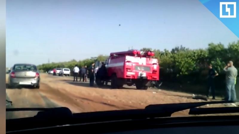Автобус столкнулся с грузовиком. Есть жертвы