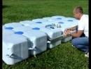 Демонстрация сборки пластиковых понтонных систем