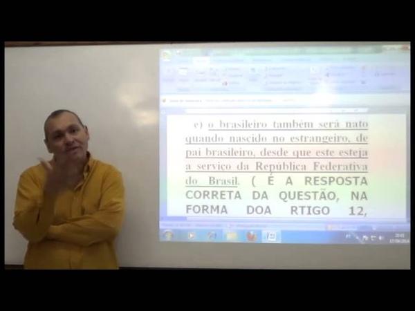 Vídeo -03 - CONSTITUCIONAL. Correção de Questões da CESPE, FCC E OUTRAS BANCAS II