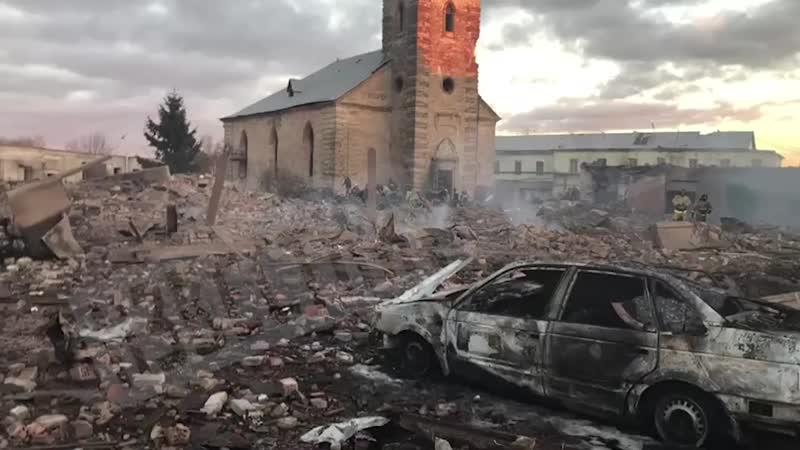 Завод в Гатчине после взрыва