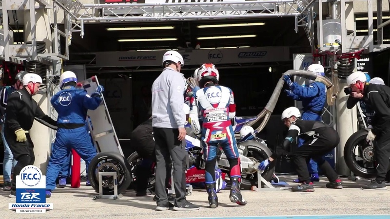 F C C TSR Honda France 24 Heures Motos Ravitaillement