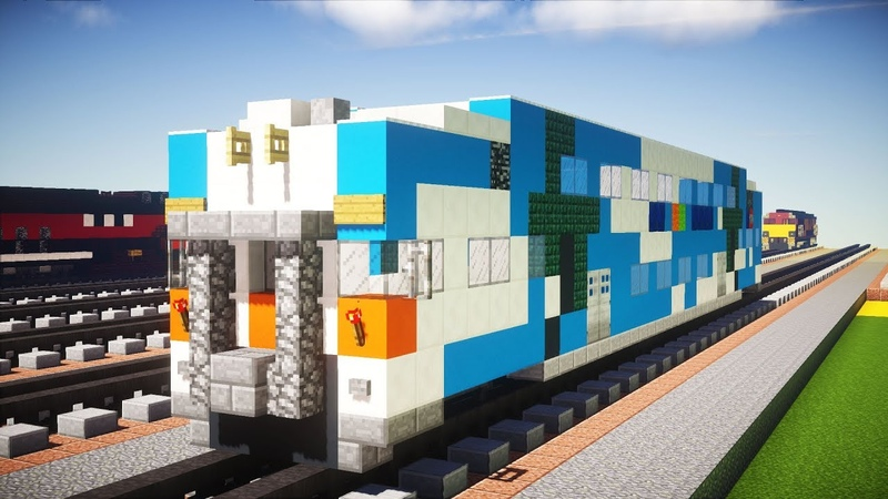 Minecraft Tri-Rail Bombardier Bi-level Coach Tutorial