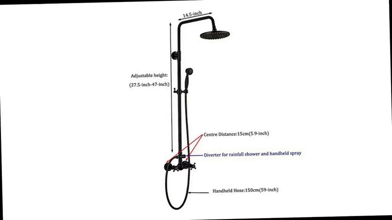 Rozin Bathroom Shower Faucet Set 8 Rain Shower Head Hand Spray Oil Rubbed Bronze