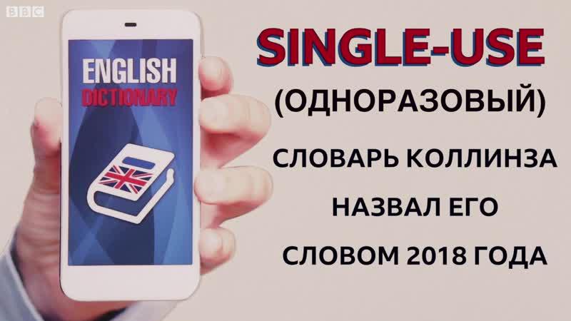 Почему словарь английского языка Collins Dictionary назвал single-use словом 2018 года?