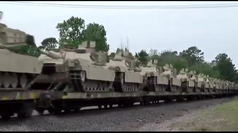 Impressive! Ironhorse is on the move to Europe in support of Operation AtlanticResolve. 90