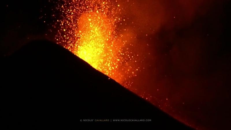 Etna eruption - 24.08.2018 (live sound)
